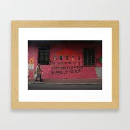 Pink Wall (Bogotá) Framed Art Print