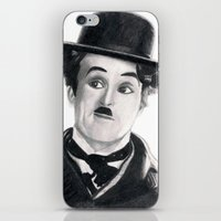 charlie chaplin iPhone & iPod Skins featuring Charlie Chaplin by Art by Boothe