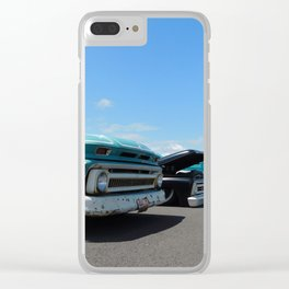 Vintage beauties Clear iPhone Case