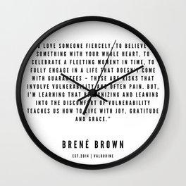 12 | Brené  Brown Quotes | 190524 | White Design Wall Clock
