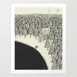 'Isolation' (B&W) Art Print