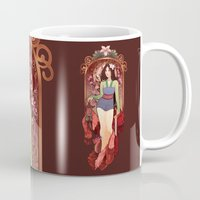 mucha Mugs featuring Who I am Inside by Megan Lara