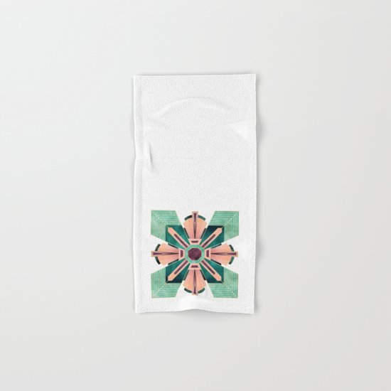 Art Deco Flower 1 Hand & Bath Towel
