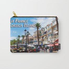 Sidewalk Cafe at Calvi France Carry-All Pouch