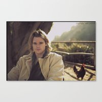 actor Canvas Prints featuring actor brendan miller by Beau Pollock