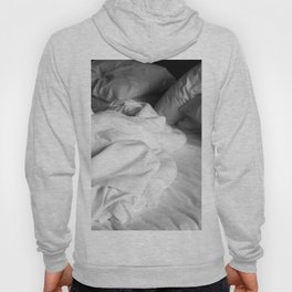 Empty bed in black and white Hoody