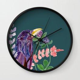 Crow :: Totem Series:: Wall Clock
