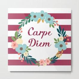 Carpe Diem Red Metal Print