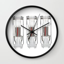 heating spiral - electric light filament Wall Clock