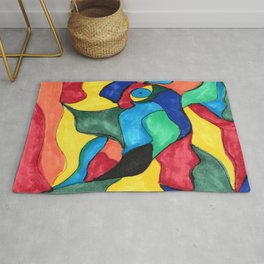 Stained Glass Eye Rug