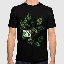 Monstera obliqua interior plant T-shirt