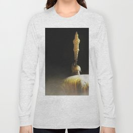 Abstract spaceship fog atmospheric landscape illustration Long Sleeve T-shirt