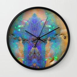 Aquamarine Opal Gemstone Marble Rock Mineral Pattern Wall Clock