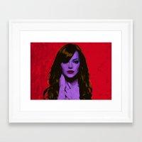 emma stone Framed Art Prints featuring Emma Stone by Bolin Cradley Art