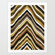 Green/Yellow/Brown Slice Art Print