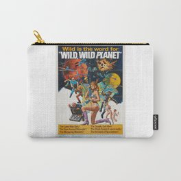 Wild Wild Planet 1965 Sci-Fi Precursor or Barbarella Queen Of The Galaxy Vintage Retro Movie Poster, Carry-All Pouch