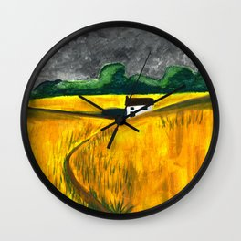 Stormy Landscape Wall Clock