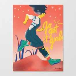 Go Get It Girl_CYL Illustration Canvas Print
