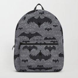 Balinese Bat Colony Print - Gray Backpack