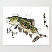 trout Canvas Prints featuring Lake Trout by Mt Zion Press
