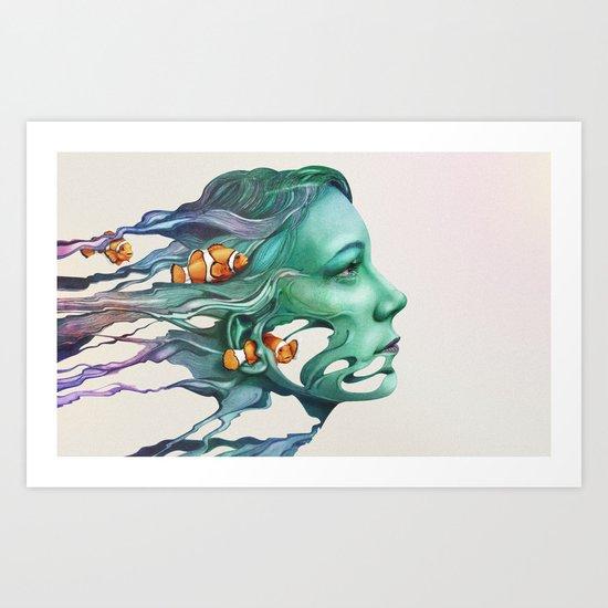 Actinodendron Plumosum Art Print