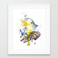 millenium falcon Framed Art Prints featuring Star Wars Millenium Falcon  by idillard