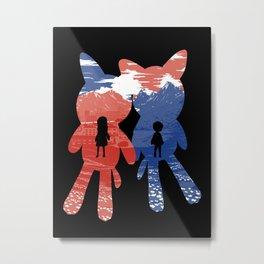 Ame and Yuki Metal Print