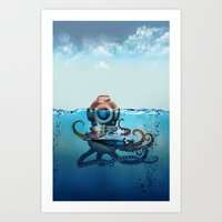 nemo Art Prints featuring Nemo by Tony Vazquez