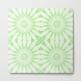 Pastel Green Pinwheel Flowers Metal Print