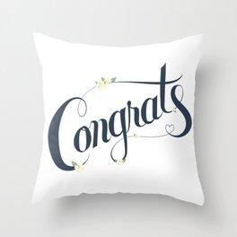 Congrats! Throw Pillow