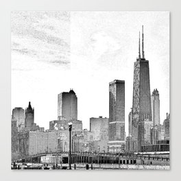 The Windy City. Canvas Print