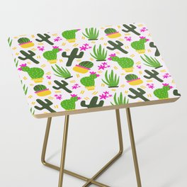 Cactus Pattern of Succulents Side Table