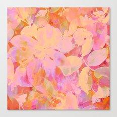 orange and peach floral Canvas Print