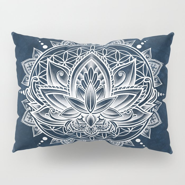 Lotus Mandala (white) Pillow Sham