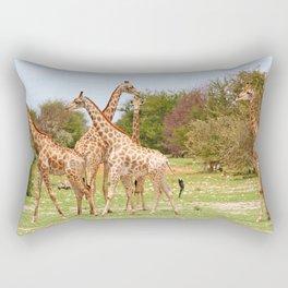 Giraffe family, Africa wildlife Rectangular Pillow