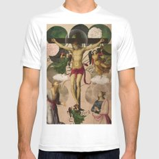 Saints Collection -- re-birth White Mens Fitted Tee MEDIUM