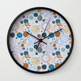 Not Your Mamas Geometry - Blue Wall Clock