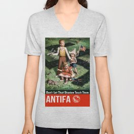 Antifa Unisex V-Neck