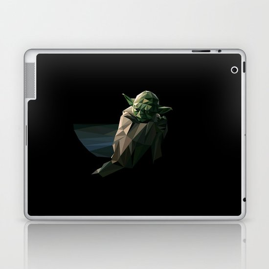 Geometric Yoda Laptop & iPad Skin