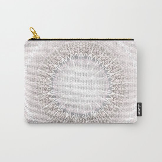 Pastel Gray Mandala Carry-All Pouch