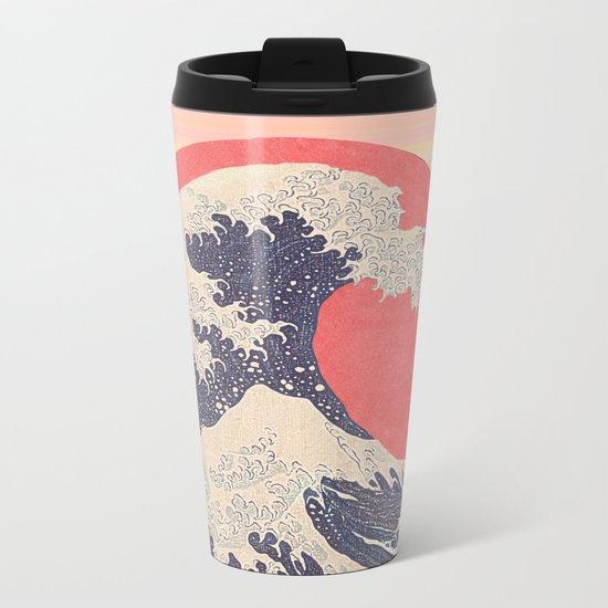 Hokusai revisited Metal Travel Mug
