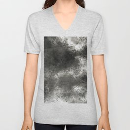 Black grey batic look Unisex V-Neck