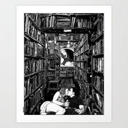 asc 978 - L'alphabet d'arrière-boutique (The back room lesson) Art Print