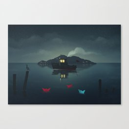 Ships In The Night Canvas Print