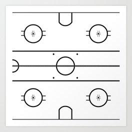 Ice Hockey Rink Art Print