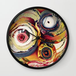 Yard Sale (Colorful Circles) Wall Clock