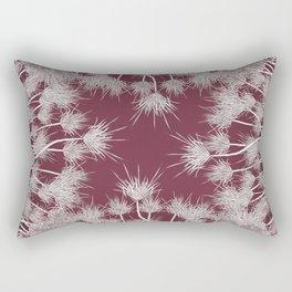 Hibiscus meets Pandanus (St. Damien 7) Rectangular Pillow
