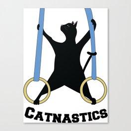 Catnastics Rings Canvas Print