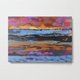 mello sunset Metal Print