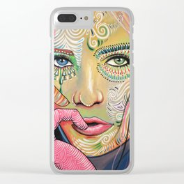 Abstract Art Women Portrait Painting ... Soul of Sunshine Clear iPhone Case